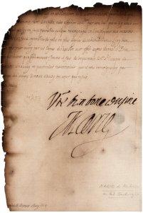 Marie de Medici letter
